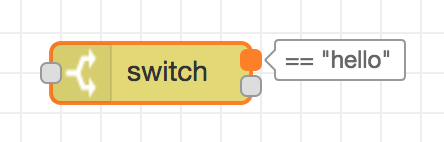 Sample node, switch node