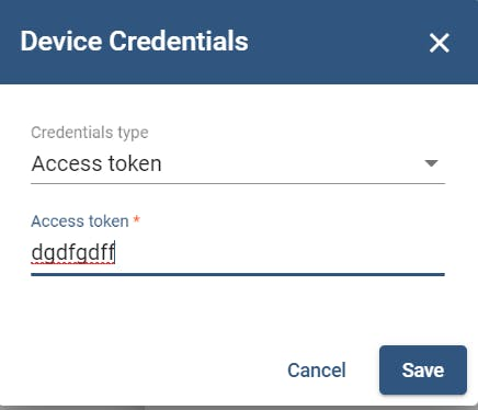 ThingsBoard device credentials