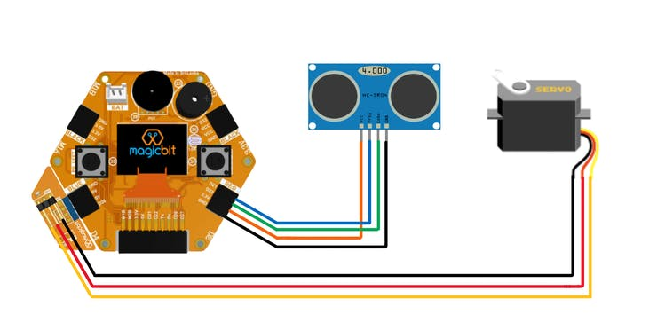 Simple Radar System From Magicbit Pic 1
