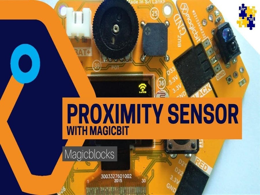 Make a Proximity Sensor with Magicbit [Magicblocks]