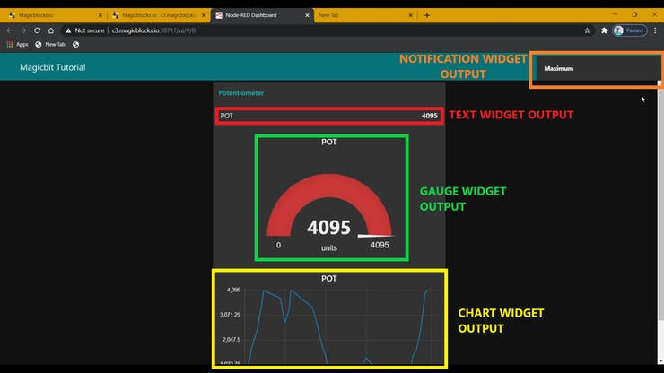 Use Dashboard Widgets with Magicbit pic 24