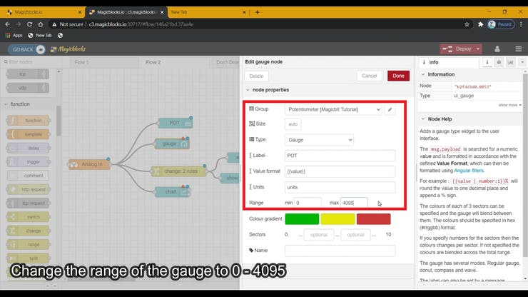 Use Dashboard Widgets with Magicbit pic 7